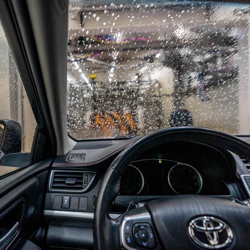 Car wash tunnel.